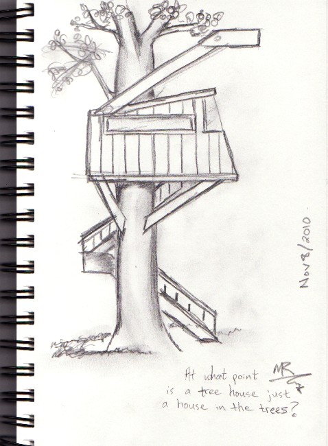 At what point does a tree house become a house in the trees?