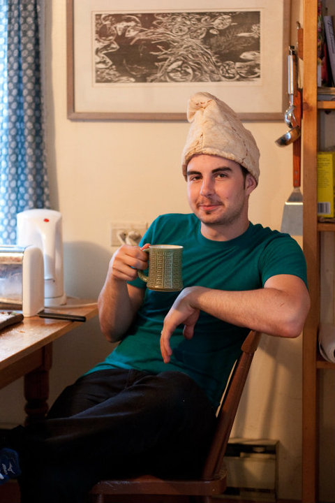"""Metaphorical Thinking Cap"" Photo: Eliot Wright"