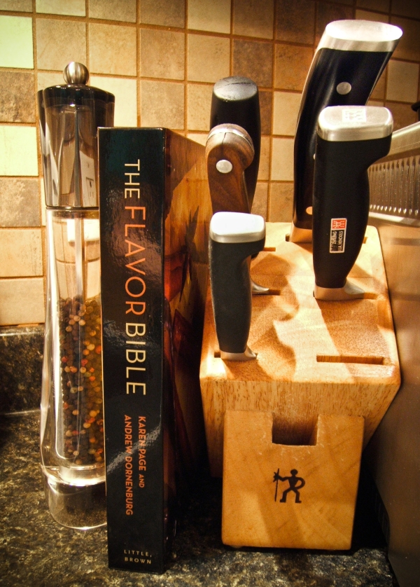 The Flavor Bible - Sitting next to my Knife-block in the Kitchen
