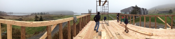 iPhone panoramic on top the School House.