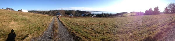 iPhone panoramic leaving the cabin.