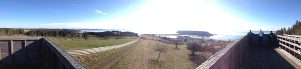 iPhone panoramic from on top of the above structure.