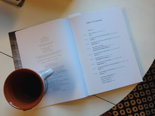 Reading 'Ghost: Building an Architectural Vision' one morning with a coffee.