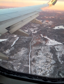 Flying into Halifax