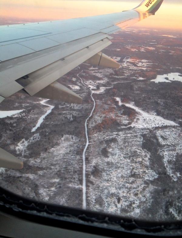 Flying into Halifax