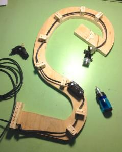 Electrical runs through spine